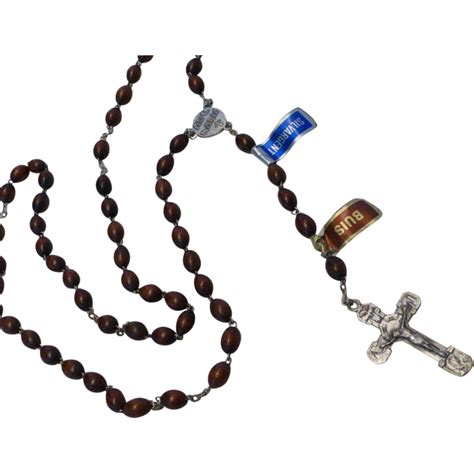Backroom Lourdes by Lourdes Boxwood Bead Rosary Ave From