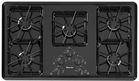 Magic Chef Gas Cooktop - magic chef cgc2536adb 36 inch gas cooktop with 5 tru seal