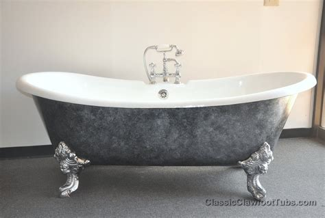 claw bathtubs 71 quot cast iron double ended slipper clawfoot tub w imperial feet classic clawfoot tub