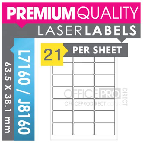 label template j8160 200 sheets 21 per sheet a4 self adhesive printer