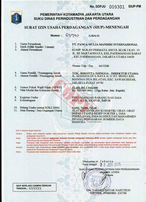 surat izin usaha perdagangan task only