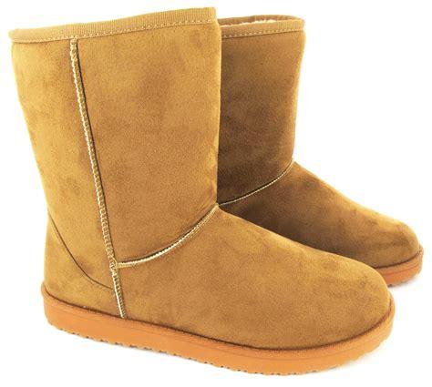 comfy boots flat ankle faux fur comfy snugg warm winter