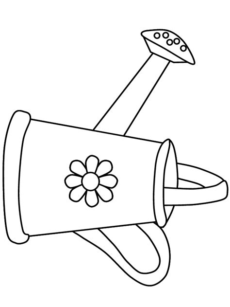 watering can template cards watering can summer coloring pages контурні зображення