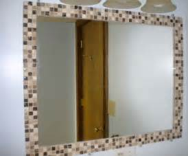 borders for mirrors in bathrooms diy mosaic tile mirror border kid s bathroom