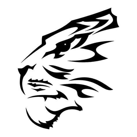 tiger tatto black amp white tribal