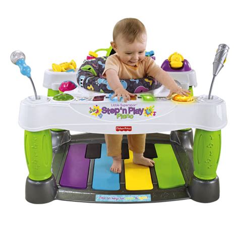 fisher price piano activity table superstar n play piano