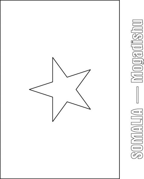 somalia flag free colouring pages