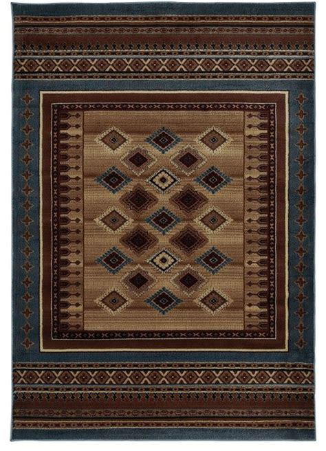 southwestern rug runners southwestern lodge bellevue hallway runner 2 3 quot x7 7 quot runner blue area rug rustic and
