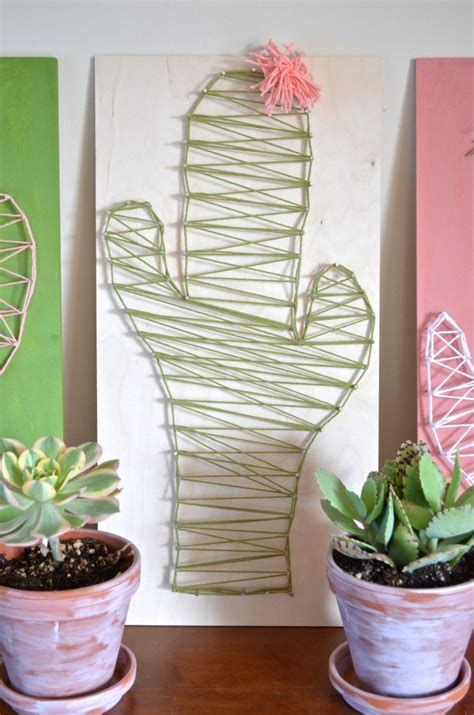 String Arts And Crafts - 25 best ideas about cactus craft on