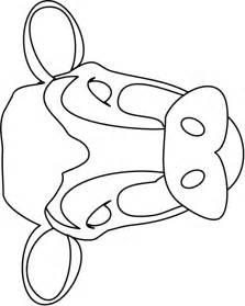 fil a cow mask template image detail for cow mask colouring pages farm