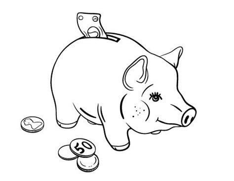 printable piggy bank coloring page free pdf download at