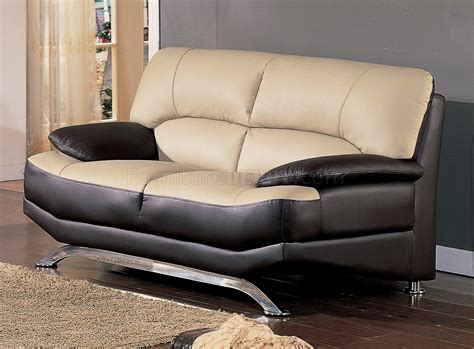 Two Tone Leather Sofa by Saddle Brown Two Tone Bonded Leather Modern Sofa