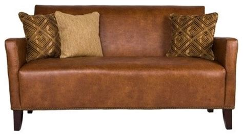Saddle Brown Leather Sofa Sutton Leather Sofa In Saddle Brown Modern Sofas By Wayfair