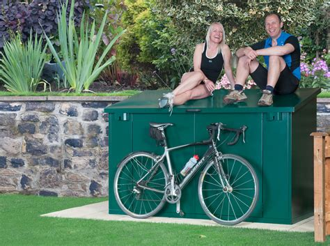 Bike Shed 4 Bikes by Bike Storage For 4 Bikes Approved Metal Bike Sheds From Asgard