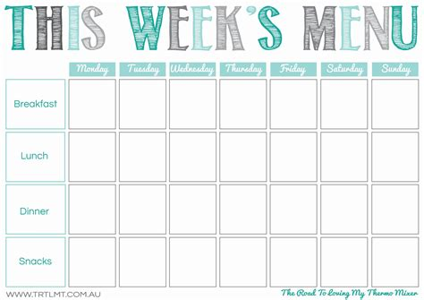 30 images of monthly menu template breakfast lunch dinner diygreat com