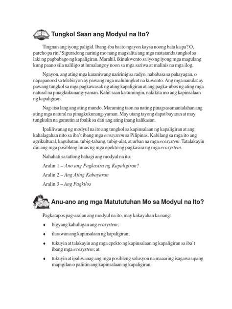 Katapusan Ng Mundo Essay by Ang Bunga Ng Kapinsalaan Ng Kapaligiran May Sagot Sa Bahagi 3 Number 12