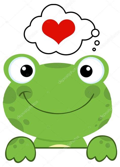 imagenes de ranas animadas de amor sapo desenho animado no amor vetores de stock 169 hittoon