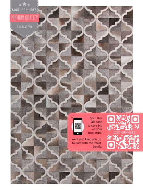 Cowhide Tile Rug Moroccan Tile Cowhide Rug Quatrefoil Area Rug Moorish