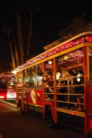 santa barbara trolley of lights santa barbarar trolley company picture of santa barbara
