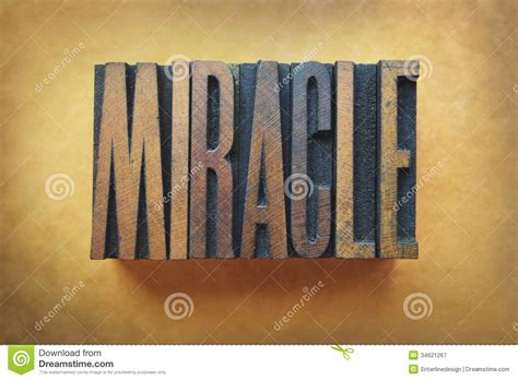 Miracle For Free Miracle Royalty Free Stock Photography Image 34621267
