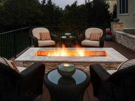 terrasse feuerstelle moderne ethanol feuerstelle sorgt f 252 r romantik