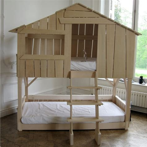 treehouse bunk bed lime wood