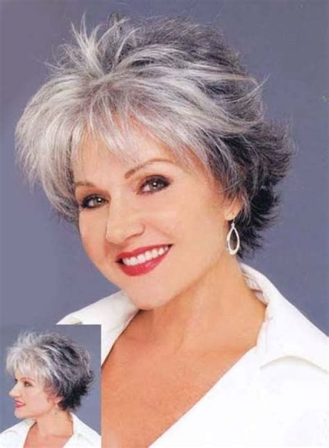 short cuts for grey thin hair 60 gorgeous hairstyles for gray hair