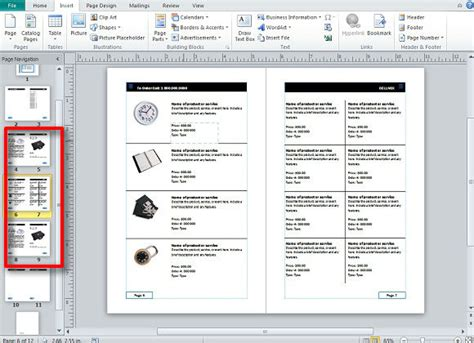 Creating And Publishing Catalogs For Your Business Using Catalog Template Word