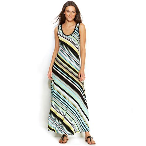 Calvin Maxy lyst calvin klein sleeveless striped maxi dress