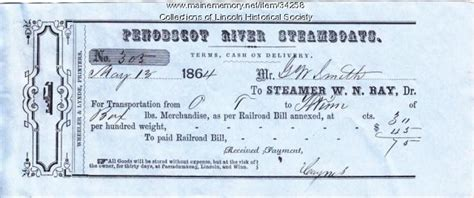 steamboat tickets maine memory network steamboat ticket lincoln 1864