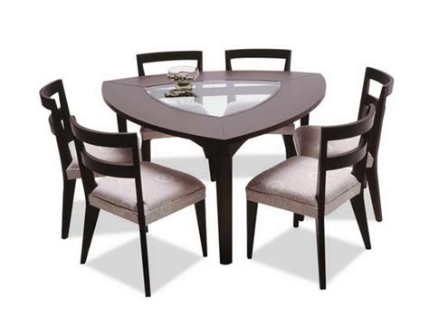 triangle shaped dining table shape of the day triangular furnishings six different ways