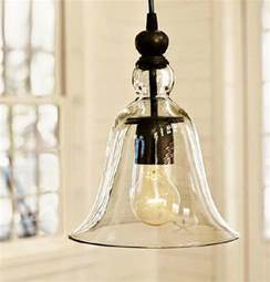 Kitchen Pendant Lights by Loft Antique Clear Glass Bell Pendant Lighting