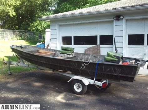 flat bottom duck boats for sale armslist for sale trade 14 5 flat bottom duck boat