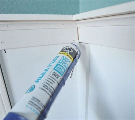 Caulking Wainscoting by Board And Batten Complete Centsational Style