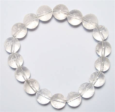 Natural Clear Quartz Rock Crystal Beads Bracelet