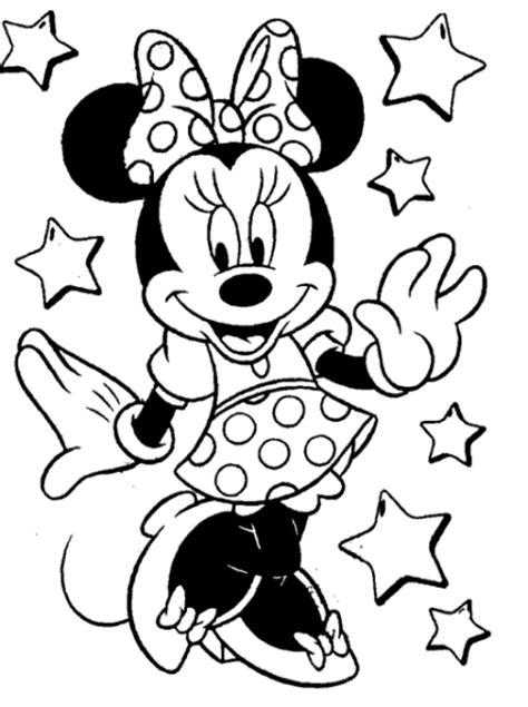 15 sketsa mewarnai gambar kartun minnie mouse media belajar anak si gambar