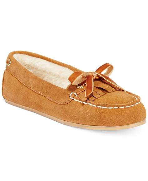 sperrys slippers sperry top sider s faux fur slippers in brown