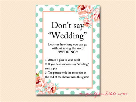 Clothespin Bridal Shower by Don T Say Wedding Don T Say A Word Clothespin