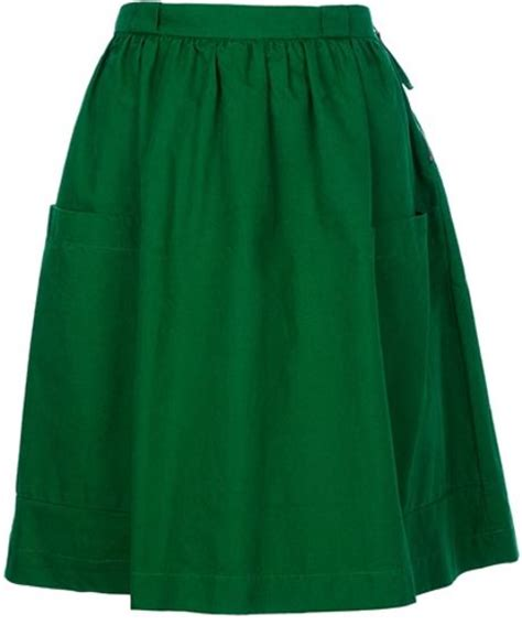 see by chlo 233 high waist skirt in green lyst