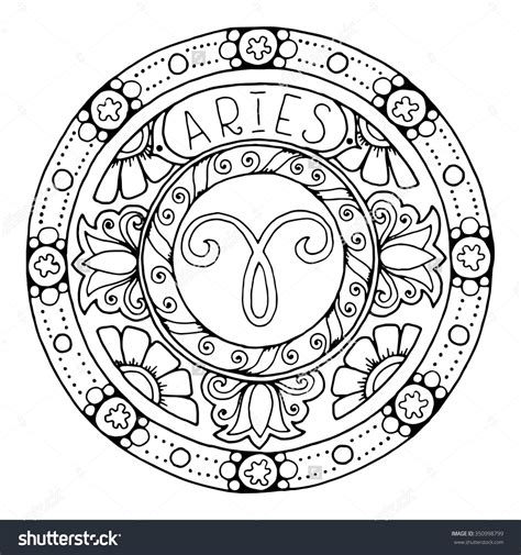 coloring pages zodiac signs zodiac sign of aries 350998799