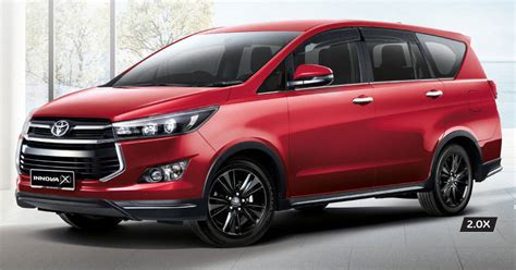 Spoiler Inova Model Standar toyota innova 2 0x launched in malaysia new top variant of the crysta model overdrive