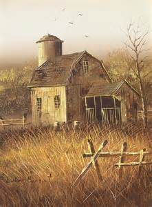 canvas barn vintage midwest barn painting on canvas original by