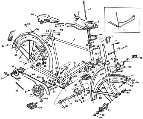 bike seat parts diagram raleigh tourist dl1 bicycle exploded drawing from 1977