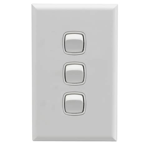 hpm excel 3 wall switch matt white bunnings warehouse