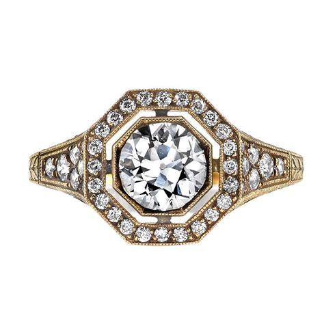 Edwardian Engagement Rings by Edwardian Inspired Gold Engagement Ring At 1stdibs