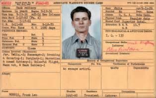 Frank lee morris alcatraz inmate 1441