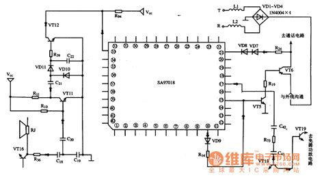 what is single integrated circuit sa97018 the communication single chip microcomputer integrated circuit audio circuit