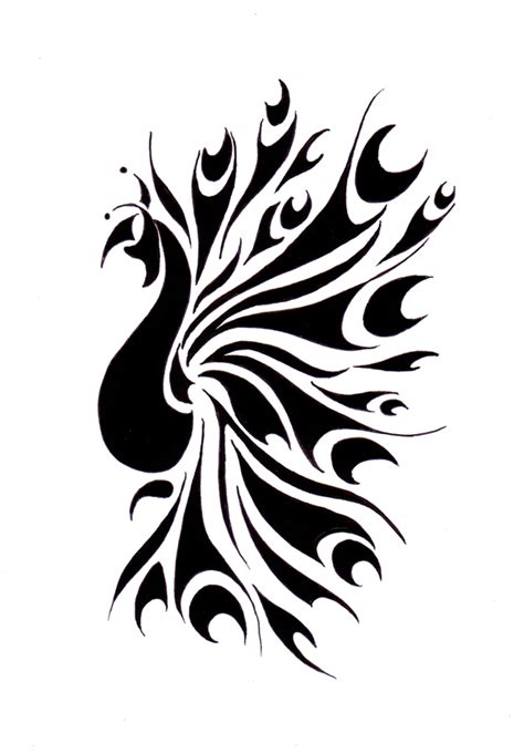 tribal peacock tattoos peacock by reddishy on deviantart