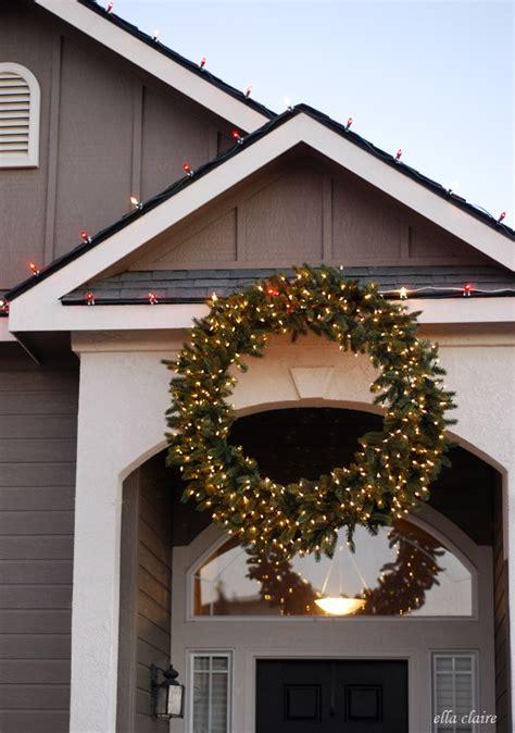 hang  giant outdoor christmas wreath ella claire