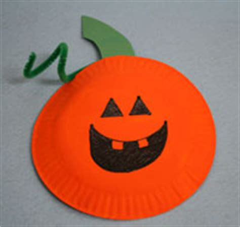 paper plate pumpkin craft activities from paper paltes